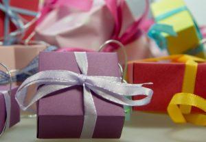 prezenty w przechowalni rzeczy